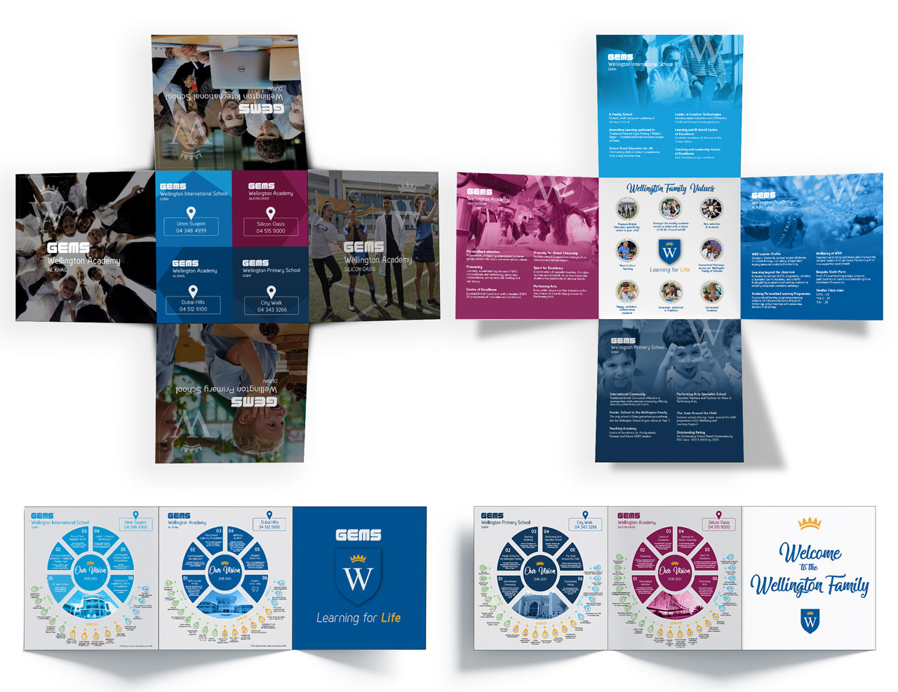 Gems Wellington School's Collateral Designs